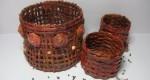 Manualidad Originales cestas reciclando papel
